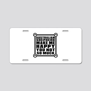 Australian Shepherd Dog Mak Aluminum License Plate