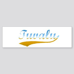 Tuvalu beach flanger Bumper Sticker