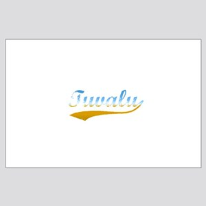 Tuvalu beach flanger Large Poster