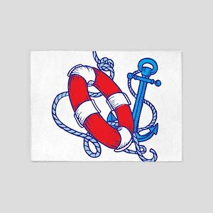 Lifeline and Anchor 5'x7'Area Rug