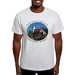 Eagle Harbor Lighthouse Oval Light T-Shirt