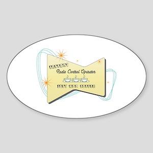 Instant Radio Control Operator Oval Sticker