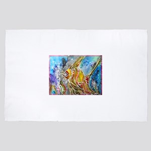 Angel fish! colorful art! 4' x 6' Rug