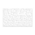 Essential Oil Handwritten Rectangle Car Magnet