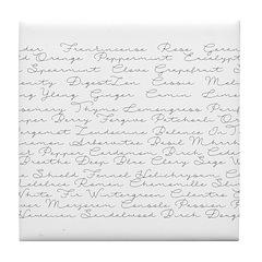Essential Oil Handwritten Tile Coaster