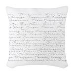 Essential Oil Handwritten Woven Throw Pillow