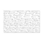 Essential Oil Handwritten 20x12 Wall Decal