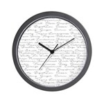 Essential Oil Handwritten Wall Clock