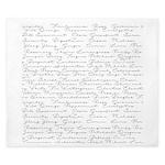 Essential Oil Handwritten King Duvet