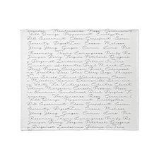 Essential Oil Handwritten Throw Blanket