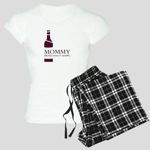 Mommy Drinks Wine And Swears Women's Light Paj