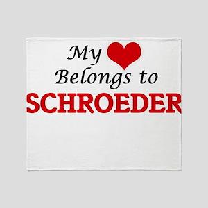 My Heart belongs to Schroeder Throw Blanket