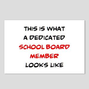dedicated school board me Postcards (Package of 8)