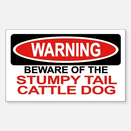 STUMPY TAIL CATTLE DOG Rectangle Decal