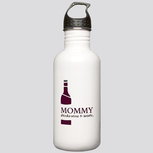 Mommy Drinks Wine and Stainless Water Bottle 1.0L