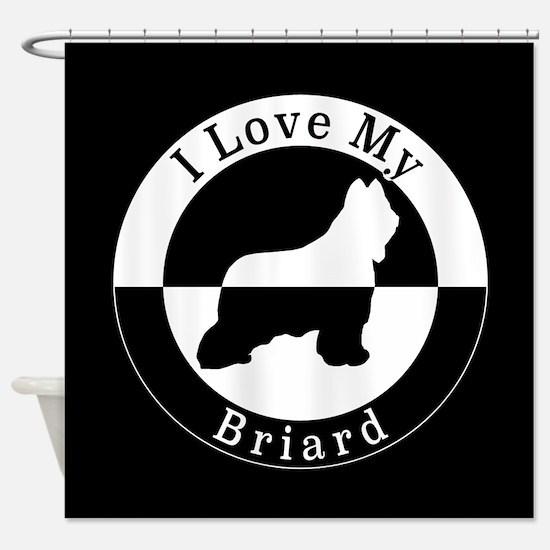 Briard Shower Curtain