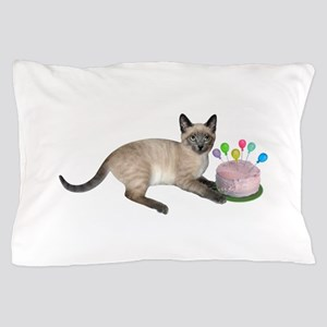 Siamese Kitten Cake Pillow Case