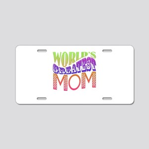 Worlds Greatest Mom Aluminum License Plate