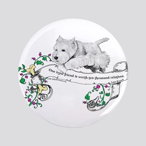 "Loyal Westhighland White Terr 3.5"" Button"