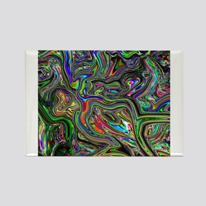 Psychedelic colors melt Magnets