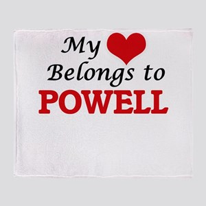 My Heart belongs to Powell Throw Blanket