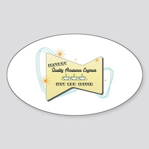 Instant Quality Assurance Engineer Oval Sticker
