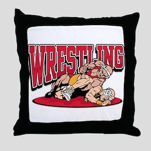 Wrestling Takedown Throw Pillow