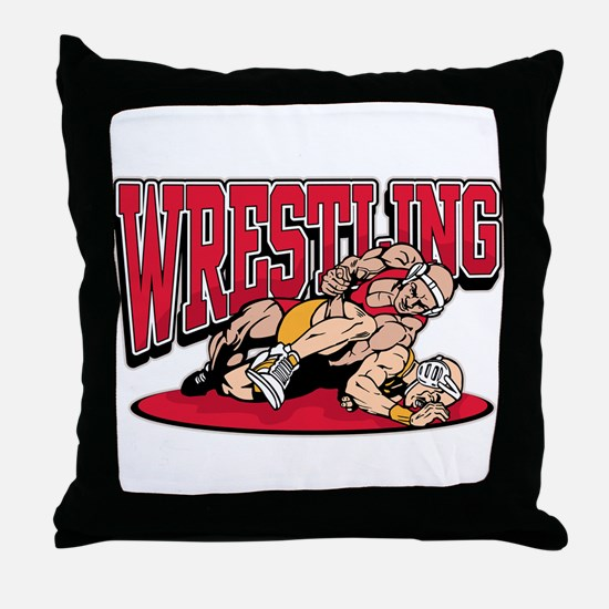 Wrestling Takedown Throw Pillow