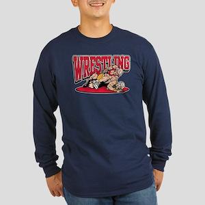 Wrestling Takedown Long Sleeve Dark T-Shirt