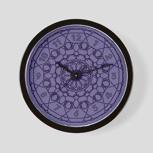 Lines Clock in Purple Wall Clock