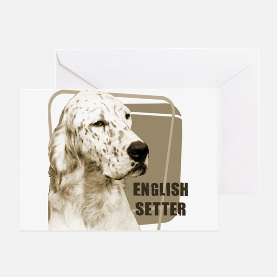 English Setter Vintage Greeting Card