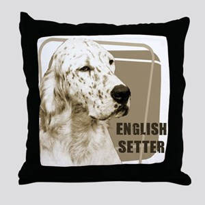 English Setter Vintage Throw Pillow