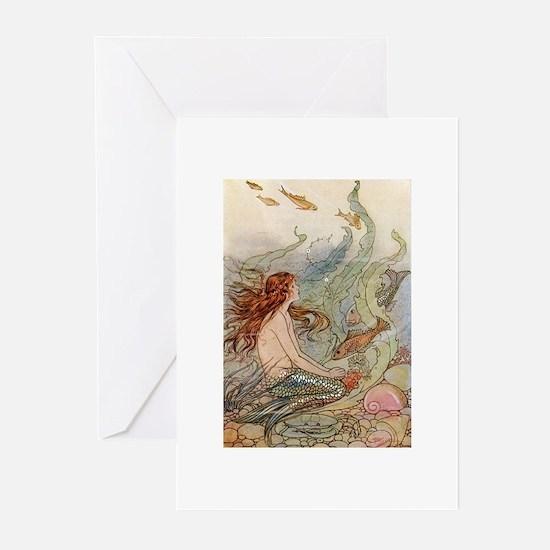 Mermaid Lass Greeting Cards