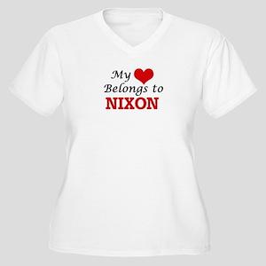 My Heart belongs to Nixon Plus Size T-Shirt
