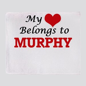 My Heart belongs to Murphy Throw Blanket