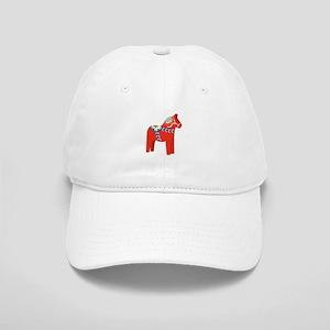 Swedish Dala Horse Baseball Cap