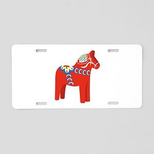 Swedish Dala Horse Aluminum License Plate