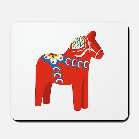 Swedish Dala Horse Mousepad