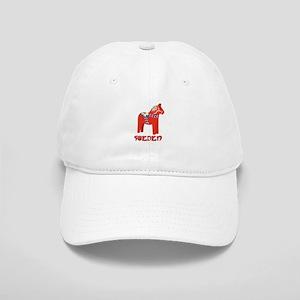 Sweden Dala Horse Baseball Cap