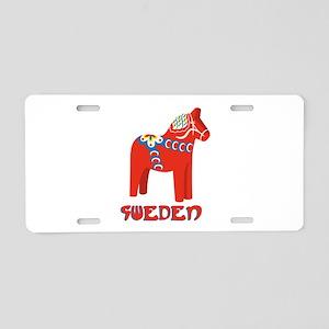 Sweden Dala Horse Aluminum License Plate