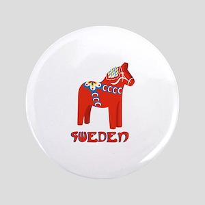 Sweden Dala Horse Button