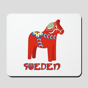 Sweden Dala Horse Mousepad