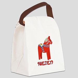 Sweden Dala Horse Canvas Lunch Bag