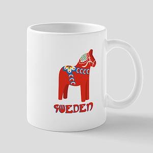 Sweden Dala Horse Mugs