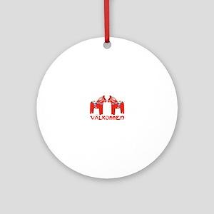 Swedish Horse Valkommen Round Ornament