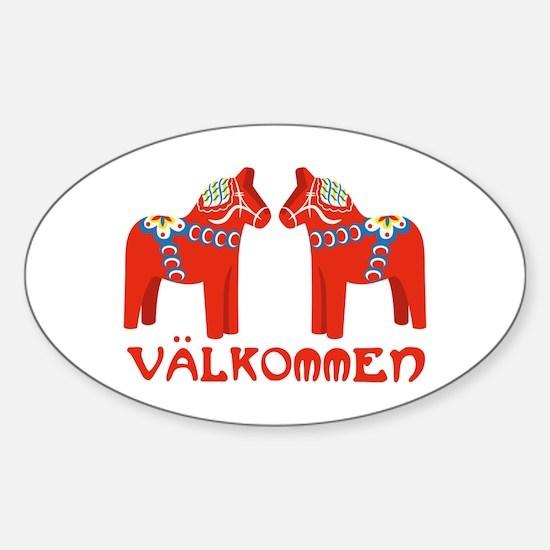 Swedish Horse Valkommen Decal
