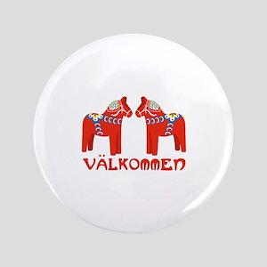 Swedish Horse Valkommen Button