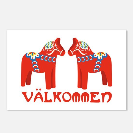Swedish Horse Valkommen Postcards (Package of 8)