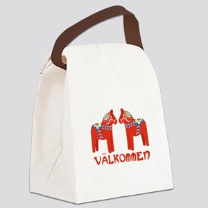 Swedish Horse Valkommen Canvas Lunch Bag