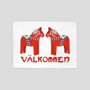 Swedish Horse Valkommen 5'x7'Area Rug